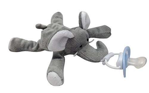 CuddlesMe Pacifier with Detachable Plush Elephant - Made from 100% BPA, Latex, and Phthalate Free Silicone - FDA Listed Medical Device - For Boys and Girls 6 Months and Up