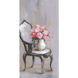 Yosemite Home Decor YG130453A Chair of Roses I Still Life Hand Painted Artwork