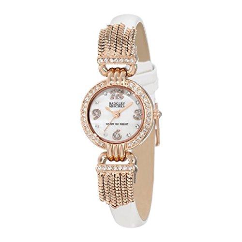 badgley-mischka-womens-ba-1212rgwt-swarovski-crystal-accented-rosegold-tone-white-leather-strap-watc
