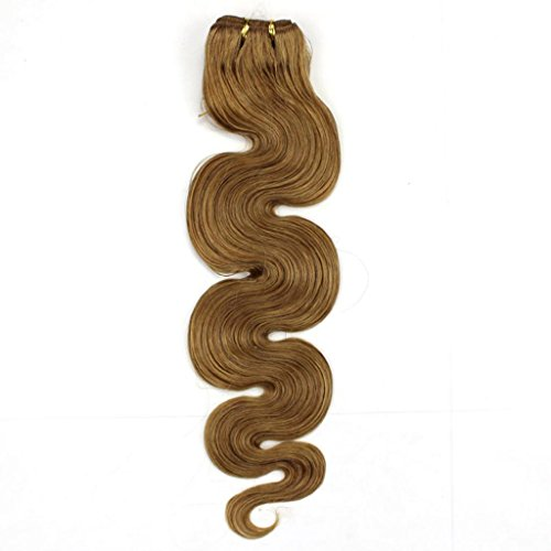 "Beauty Salon Hair 21"" 100G 100% Remy Body Wave Human Hair Extension Weft #16 Dark Honey Blonde"