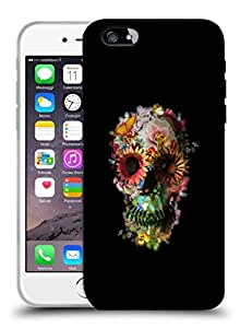 Snoogg Floral Skull Designer Protective Back Case Cover For IPHONE 6
