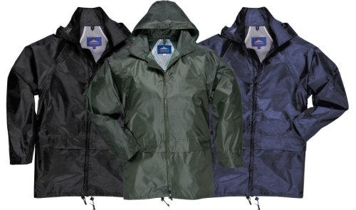 Adults Waterproof Rain Coat Showerproof Jacket Mac (Sizes S- 4xl)