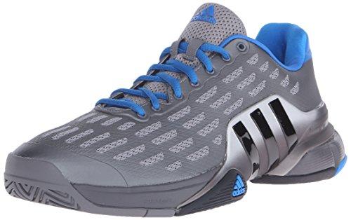 adidas Performance Men's Barricade 2016 Tennis Shoe,Iron Metallic Grey/Black/Shock Blue,12 M US
