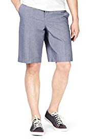 Blue Harbour Pure Cotton Striped Chino Shorts
