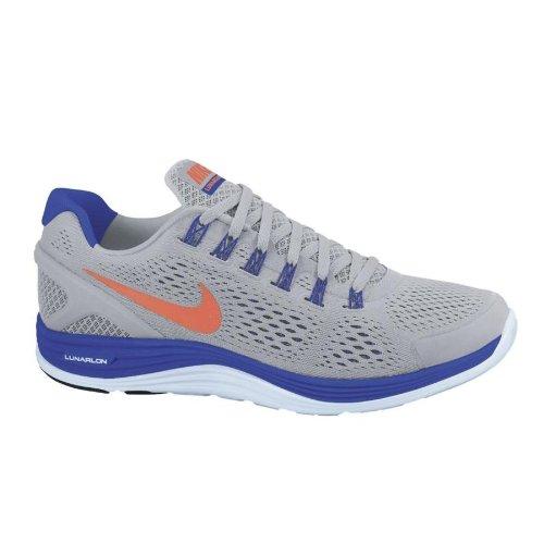2b9fbeb9d638 Mens Nike Lunarglide 4 Running Shoes Wolf Grey Total Crimson Hyper Blue  524977 084 Size 8 5