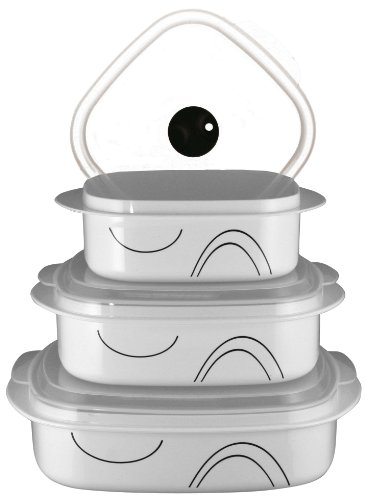 Corelle Coordinates Simple Lines 6-Piece Microwave Cookware Set (Microwave Set compare prices)