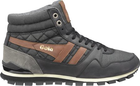 Gola Men's Ridgerunner High CC Casual Sneaker,Black Canvas,US 11 M