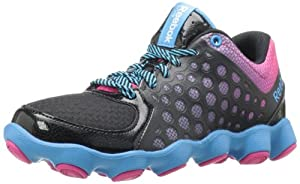 Reebok ATV19 Running Shoe (Little Kid/Big Kid),Black/Pink/Blue,2.5 M US Little Kid