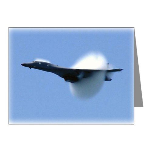 Cafepress Breaking The Sound Barrier Note Cards Pk Of 10 - Standard Multi-Col...