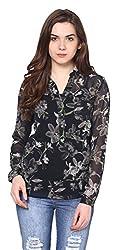 Harpa Women's Body Blouse Shirt (GR2620-Black_Large)