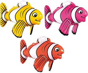Amscan - Inflatable Striped Fish - 1
