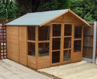 8FT x 8FT HAVANA TONGUE & GROOVE SUMMERHOUSE