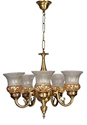 Fos Lighting Lustrous 5 Light Antique Brass Chandelier