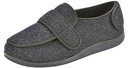 Foamtreads Men\'s Physician Slipper,Charcoal,14 W US