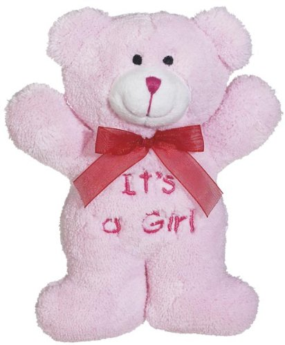 """""""It'S A Girl"""" Bear With Rattle 7.5"""" Plush Toy front-877323"""
