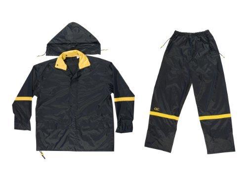CLC Rain Wear R103 Black Nylon 3-Piece Rain Suit