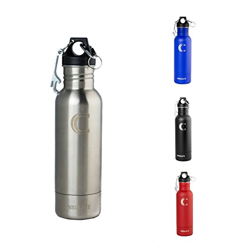 CORLAY iNSULATE Stainless Steel Bottle Koozie Beer Chiller - Fits Most 12oz Bottles - Opener and Carabiner Included - Perfect Beer Gifts (Stainless Steel) (Fosters Beer Koozie compare prices)