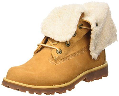 Timberland 6 In WP Shearling Boot, Stivaletti, Unisex - bambino, Giallo (Wheat), 39
