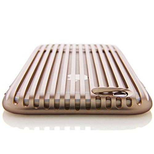 SQUAIR iPhone 6 ケース 【The Slit】 日本製 ドレスケース 超々ジュラルミン A7075を贅沢に削り出し 金属製  アルミ 合金 バンパー 工具不要 | ゴールド | SQSLT600-GLD