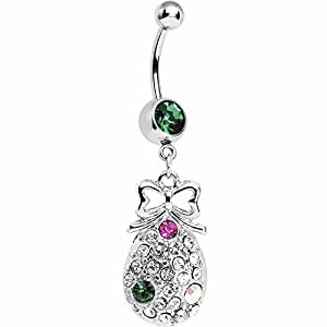 Amazon.com: Sparkling Pineapple Belly Ring: Body Piercing