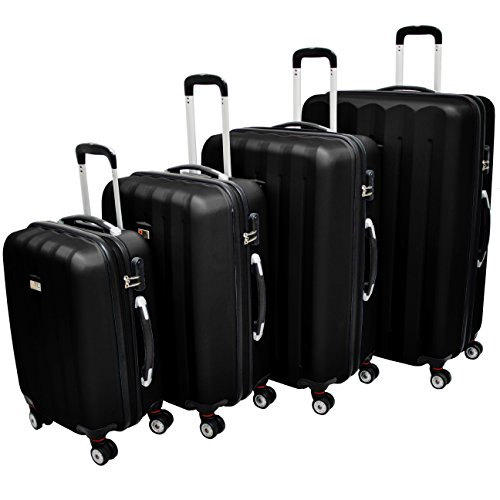 Exkl-Hartschalen-Reisekoffer-M-L-XL-SET-Reise-Koffer-Trolley-Hartschale-Cabine-Hard-sided-Case-Travelcase-Travel-case-luggage-suitcase-3er-SET-MLXL-Schwarz