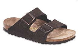 Birkenstock Unisex Arizona Slide Fashion Sandals, Mocha Leather, 41 N
