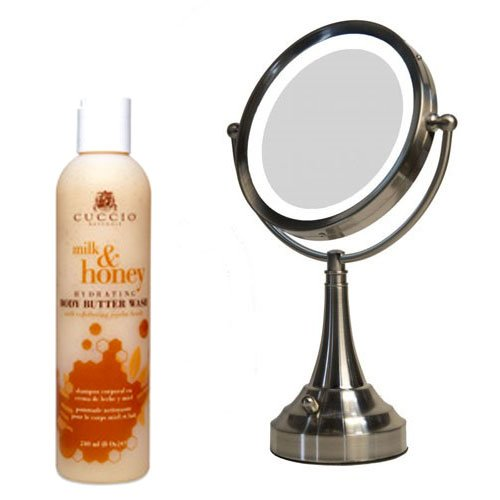zadro ledv410 led lighted vanity mirror and cuccio milk honey body butter wash reviews. Black Bedroom Furniture Sets. Home Design Ideas