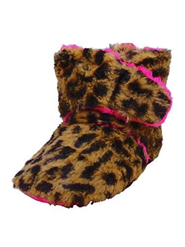 Baby Girls Cheetah Wrap Slipper Boots By Goldbug - Hot Pink - 12-18 Mths front-580233