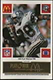 Curt Warner Seattle Seahawks McDonald's NFL Play & Win 1986 Football Card at Amazon.com