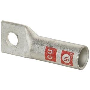 Morris Products 94266 Long Barrel Compression Lug, 1 Hole, Copper