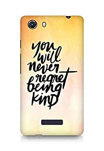 AMEZ you will never regret being kind Back Cover For Micromax Unite 3