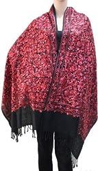 Matelco wool blackembroidered shawl