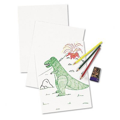 Pacon® White Drawing Paper PAPER,DRAWING,SUPLHITE,WE 803 (Pack of5)