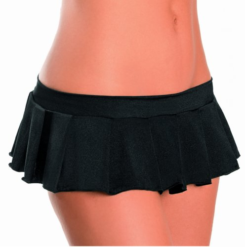 Escante Women's Pleated Mini Skirt, Black, One Size