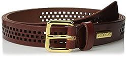 Cole Haan Women's 25mm Oil Vachetta Panel Belt, Tan, Medium
