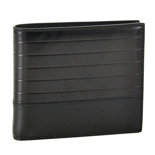 DIOR HOMME(ディオール・オム) 財布 メンズ エナメルコーティング×カーフスキン 2つ折り財布 ブラック 2BKBH027-WSU-900 [並行輸入品]
