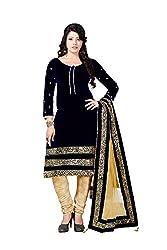 Mandani Fashion women's Velvet Party Wear Unstitched dress material(SF210_Royal Blue color)