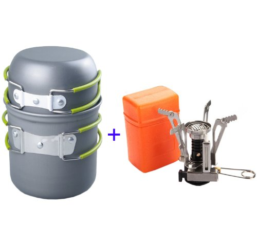 NuoYa001 Camp Hiking Picnic BBQ Pot/Bowl 2pcs