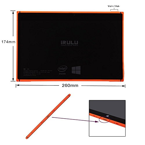 iRulu Walknbook 10 1-Inch 32 GB Tablet Bundle with User Manual, Power  Adapter, USB Cable and Detachable Keyboard with Stand (Orange)