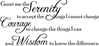 Grant me the Serenity to accept the things  I cannot change by WallDecalQuote