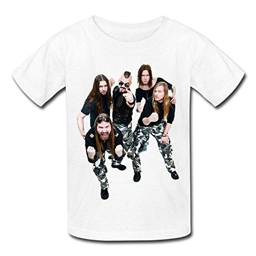 Big Boys'/Girls' Sabaton Band Music Art T-Shirt - WhiteYILIAX10483Large