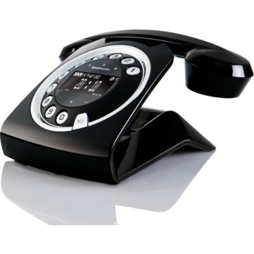 Ultimate Sagemcom SIXTY Designer Cordless Phone with TAM - Black with accompanying HSB Microfibre Cleaning Glove picture