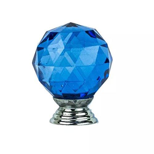 DECOOL (TM) Blau 12PCS 40mm runde Kugel Kristall Moebelknopf Moebelknoepfe Moebelgriffe Moebelknauf Griff Knopf Schrankgriff günstig online kaufen