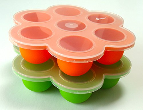 Silicone Multiportion Baby Food Freezer Tray