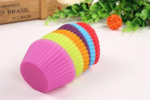 Cupcake Liners Mold 7CM 12pcs 6 Colors Muffin Round Silicone Cup Cake Tool Bakeware Baking Pastry Tools Kitchen Gadgets Ukraine (Airbake Loaf Pan compare prices)