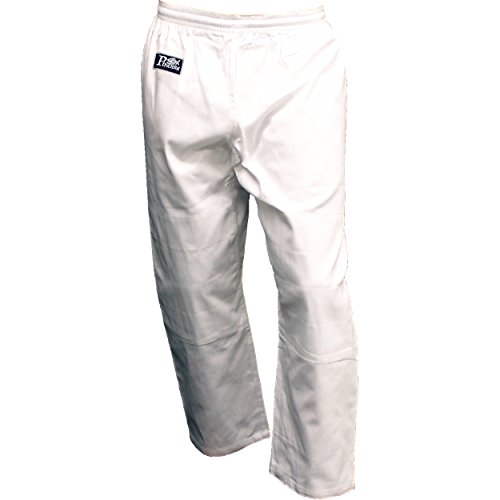Beginner BJJ JiuJitsu Judo Pants, White (5) (Piranha Gear Tie compare prices)