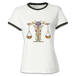 XING11YUAN Girls Libra Short Sleeve Shirt Leisure