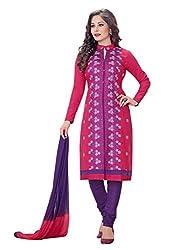 RK Fashion Womens Cotton Un-Stitched Salwar Suit Dupatta Material ( MITTAL-SANAM-7006-Red-Free Size )