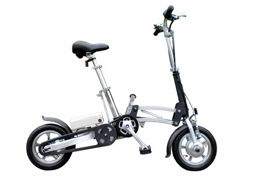 Cellet Lightweight Foldable Electric Bike, 14-Inch/One Size, Silver