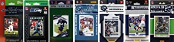 NFL Seattle Seahawks 7 Different Licensed Trading Card Team Sets by C&I Collectables